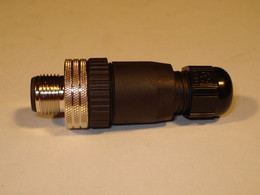 Connector 4-pole M12 male